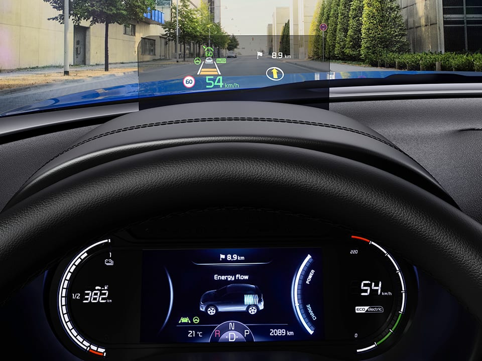 Kia e-Soul Head-Up-Display